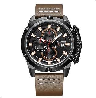 ميجير ساعة يد رجالية انالوج بعقارب ، جلد ،ML2062G-BKBN-1N0