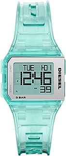 Diesel Chopped Men's Black Dial PU Leather Digital Watch - DZ1921