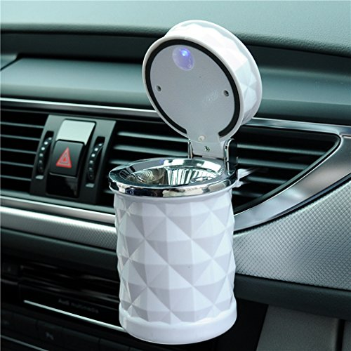 Auto Car Ashtray Portable with Blue LED Light Lighter Ashtray...