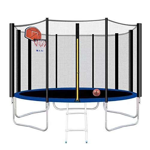 Poncho 12FT Trampoline with Hoop Combo Bounce Jump...