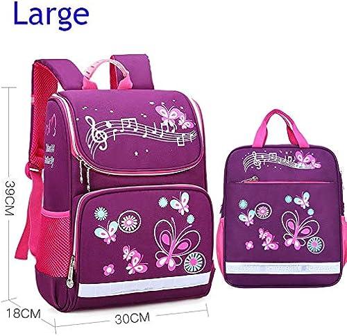 LFSHUB Kinder Schultaschen Set Für mädchen Jungen Orthop sche Rucksack Cartoon Schmetterling Auto Schultasche Kinder Schulranzen Rucksack