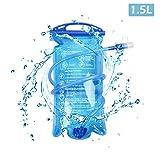 TRIWONDER TPU Bolsa de Agua Soft Flask 1.5-2-3L Vejiga de Hidratación Deportivas sin BPA a...
