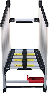 Folding Ladder Aluminum Alloy Thickened Household adjustable One Side Mounted Portable Multifunctional Lift Ladder Step La...