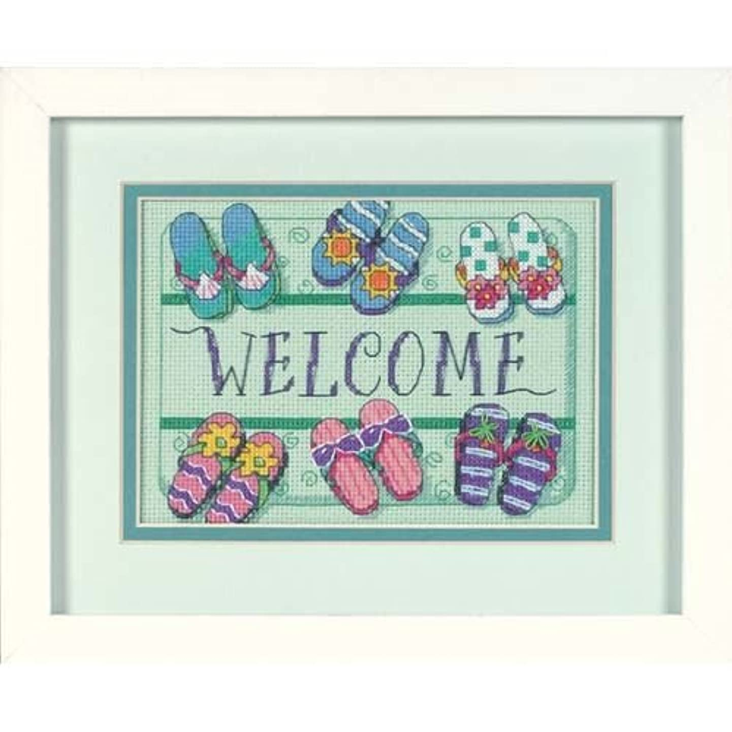 Dimensions Needlecrafts 06978 Counted Cross Stitch, Welcome Mat