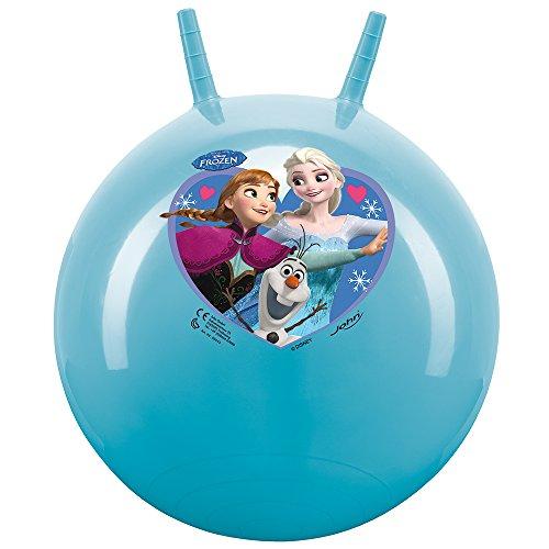 John 59534 - Sprungball Die Eiskönigin - Disney - Bedruckter Hopperball, Hüpfball, Springball, Hopper Ball für Drinnen & Draußen - wiederaufblasbar, robust - Fitness für Kinder