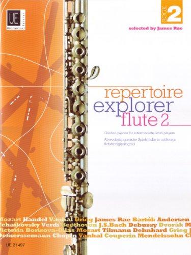 Repertoire Explorer - Flute: Abwechslungsreiche Spielstücke in mittlerem Schwierigkeitsgrad. Band 2. für Flöte solo oder Flöte und Klavier.