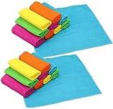 com-four paño de Microfibra 20x, para Vidrio, Cocina, baño y más, paños de Limpieza de Microfibra en 5 Colores (Set 6 - Toallas sanitarias 20 Piezas)