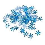 Tingz 600Pcs Schneeflocken Konfetti,Weiß & Blau Künstliche Schneeflocke Flocke Schneeflockenpapier für Weihnachten Winter Frozen Party Hochzeit Geburtstag Holiday Party Dekorationen Lieferungen
