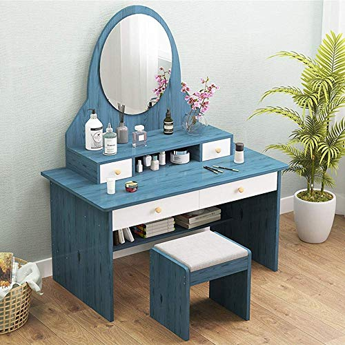 Why Should You Buy HIZLJJ Vanity Set with Mirror and 2 Drawers,Makeup Dressing Table with Cushioned ...