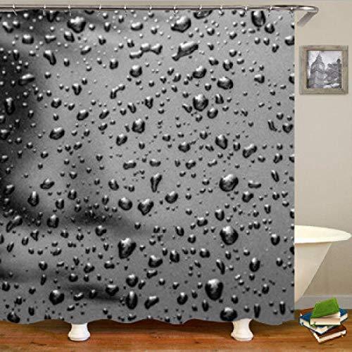 xialeine Duschvorhang Stilvolle Regenbogen Aquarell 3D Wassertropfen Duschvorhänge für Bad Wasserdicht Bad Vorhang Tropfen Blasen Kreative Decor-C_180 * 180 cm