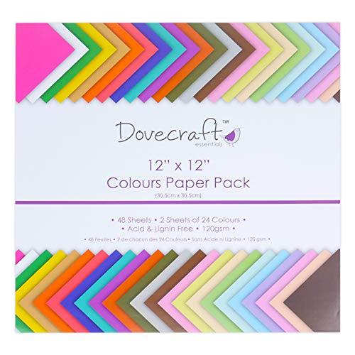 Dovecraft Essentials–Cartoncini e Carta, Value 12x12 Paper Pack
