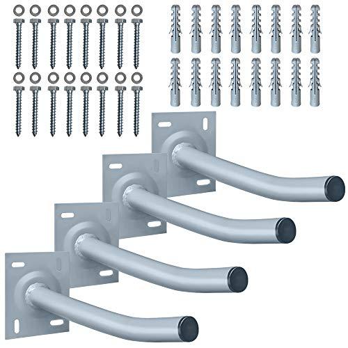 Aufun 4X Autoreifen Wandhalter 36,5cm Reifenhalter Halterung für Garage Auto Felgen Reifen Wandhalterung inkl. Schrauben & Dübel bis 50KG