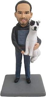 regali personalizzati per padre con cane Data personalizzata Nome compleanno Cake Topper Sposo e sposa Action Figures bamb...