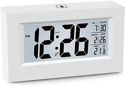 Despertador Reloj electrónico de escritorio Reloj digital LCD Reloj digital cuadrado de pantalla LCD Reloj electrónico