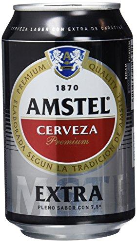 Amstel Extra Cerveza - Caja de 24 Latas 330 ml - Total: 7.92 L