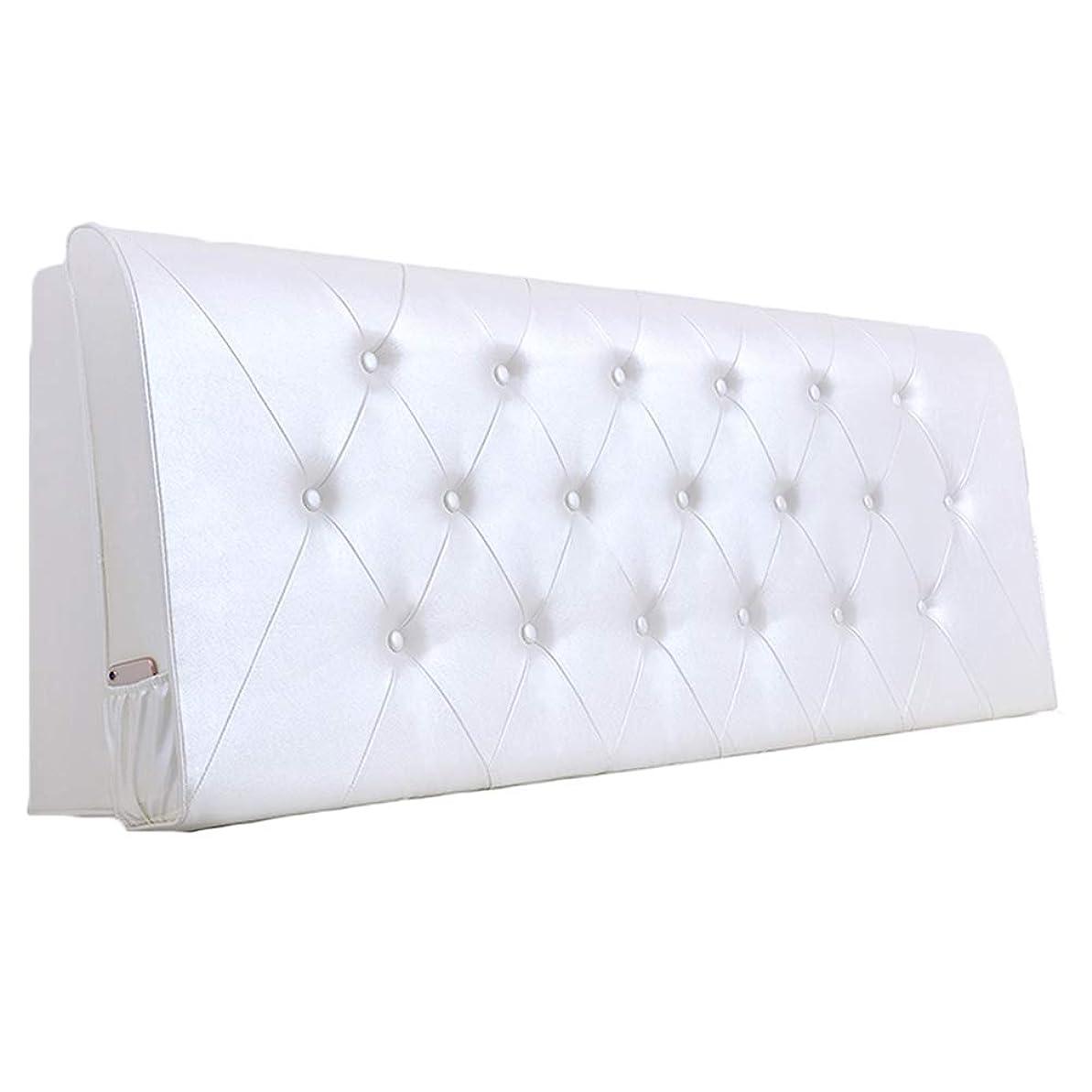 情報プレーヤー想定するPENGFEI クッションベッドの背もたれ抱き枕 ウエストケア スポンジ充填 お手入れが簡単 6色、 6サイズ (色 : 白, サイズ さいず : 160cm)