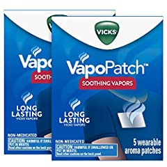 A NEW WAY TO VAPO with Vicks VapoPatch EASY TO USE. EASY TO BREATHE. New Vicks VapoPatch is infused with soothing Vicks Vapors LONG LASTING non-medicated Vicks Vapors. Camphor acts as a fragrance SOOTHING VICKS VAPORS. Vicks VapoPatch includes Vicks ...