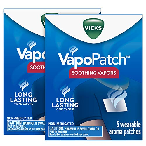 Vicks Vapopatch With Long Lasting Soothing Vapors, 2 boxes of 5 (10 Patches Total)
