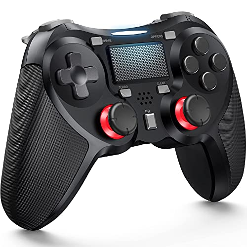 TERIOS Wireless Controllers Compatible with Playstation 4 Game Controllers for PS-4 Pro, PS-4 Slim-Built-in Speaker - Stereo Headset Jack Multitouch Pad - Rechargeable Lithium Battery(Black)