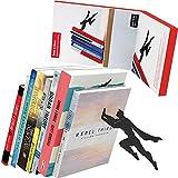 Artori Design Book & Hero | Supereroe in metallo nero fermalibri | Fermalibri unici | Regali per fa | Regali per gli amanti del libro | Bellissimo fermalibro | Regalo per la festa del papà| Regalo per papà