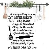 Docliick Frase Vinilo para cocina o restaurante'NUESTRA RECETA.'...