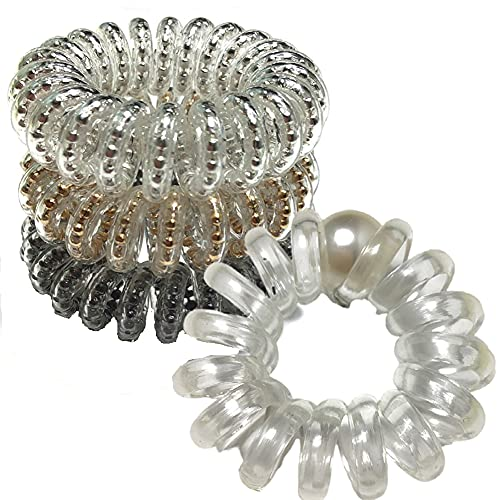 gomas de pelo Diadema en espiral de 4 piezas, Gomas Pelo Elástico,...