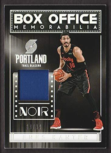 2018-19 Panini Noir Basketball Box Office JERSEY #BX-EKT Enes Kanter 64/99
