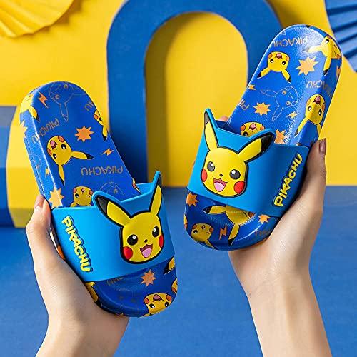 Perferct Chanclas Mujer Baratas,Pikachu Zapatillas para niños, Niños de Verano y niñas Casa para bebé Casa Interior Baño Suave Inferior Non-Slip Playa Sandalias deportivas-39 (24.5cm / 9.65')_B