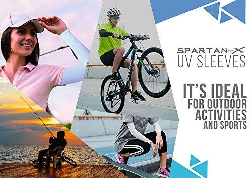 YINI Sonnenschutz Arm Sleeves Anti – UV Kühlung Multicolor Arm Ärmel für Fußball Angeln Radfahren Outdoor Aktivitäten für Frauen Männer Fingerless - 4