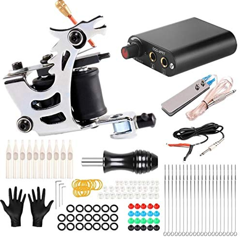CN-WSC Tattoo Kit de Tatuaje Completo Kit de Fuente de alimentación para Tatuaje 20 Agujas de Tatuaje Kit de máquina de Tatuaje 1 Pro Tattoo Supplies