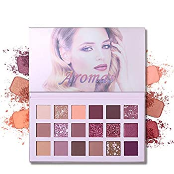 UCANBE Aromas Nudes Eyeshadow Palette Matte Shimmer Glitter Blending 18 Color Eye Shadow Pallet with Mirror Natural Velvet Texture Powder Creamy Cosmetic