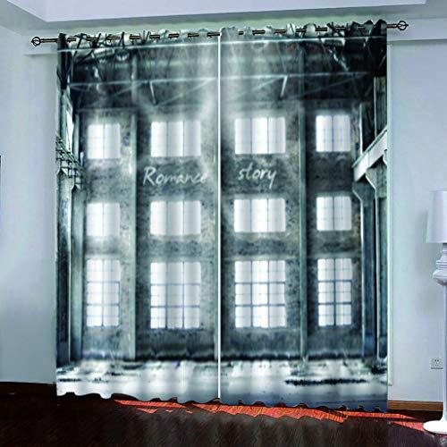 Generic Branded Blickdicht verdunklungsvorhänge mit Ösens,100% Polyester, EIN Satz von 2, Pro Stück 140x210 cm (W x L),Moderner Gardinen mit 3D Retro-Muster - Geeignet für Wohnzimmer und Schlafzimmer