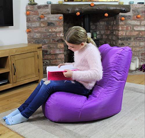 MaxiBean Bean Bag Indoor Beanbag Outdoor Garden Recliner Cushion Kids Chair Purple
