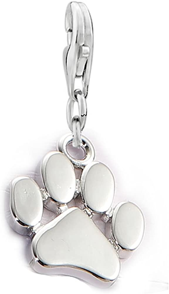 Sexy Sparkles Dog Paw Clip on Lobster Clasp Claw Charm for Bracelet