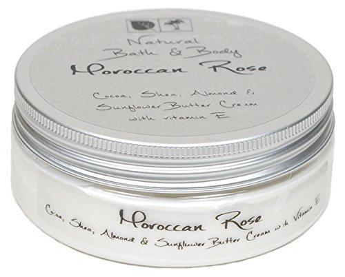 Kakaobutter Creme Handcreme Gesichtscreme MAROKKANISCHE ROSE 200 ml mit Sheabutter geeignet auch für sehr trockene Haut