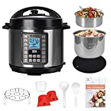 Best Pressure Cookers - MOOSOO 9-in-1 Electric Pressure Cooker with LCD, 6QT Review
