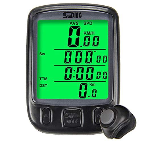 Cuentakilómetros Cuentakilómetros Para Bicicleta Cuentakilómetros Exterior LCD Resistente Al Agua Despertador Automático...