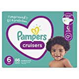 Diapers Size 6, 86 Count - Pampers Cruisers Disposable Baby Diapers, Enormous Pack (Packaging May Vary)