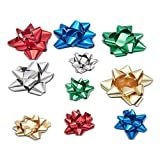 Matte Paper Gift Wrap Bows, Christmas and Birthday Giftwrap (5 Colors, 80-Pack)