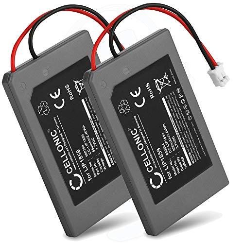 CELLONIC 2X Batterie Premium Compatible avec Playstation 3 SIXAXIS Controller (PS3), LIP1859 650mAh Accu Rechange Remplacement