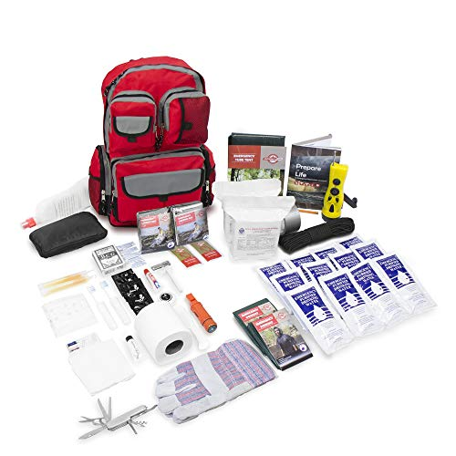 Deluxe 2 Person Urban Survival Kit - Red