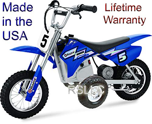 RSLLC Rigid Motorcycle Training Wheels for Razor MX350, MX400, MX350 Dirt Rocket, MX400 Dirt Rocket, MX 350 and MX 400. Bike NOT Included.