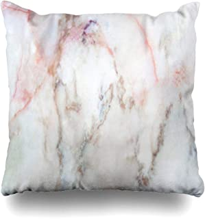Ahawoso Throw Pillow Cover Detail Gray Antique White Marble Grey Abstract Rock Pink Bright Canvas Clod Counter Design Brown Decorative Pillowcase Square 16x16 Home Decor Zippered Cushion Case