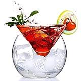 WANGIRL Copas de Cocktail Transparente Triángulo Cóctel Cristal Cono Globular Set Margarita Cócteles Jugo Bebida Copas de Cóctel para una Fiesta de Cóctel en Casa (Color : L)