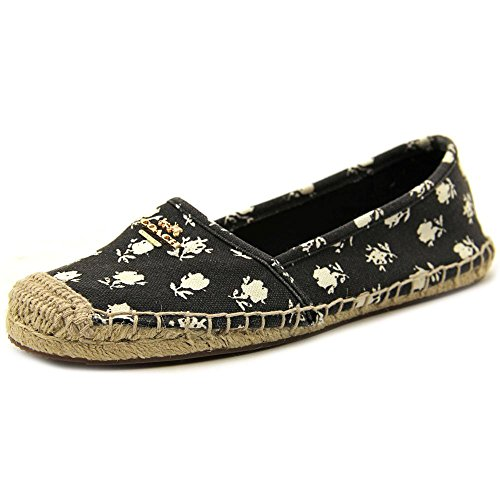 COACH Women's Rhodelle Calico Rose Canvas Flat Espadrille Shoes Size 9.5