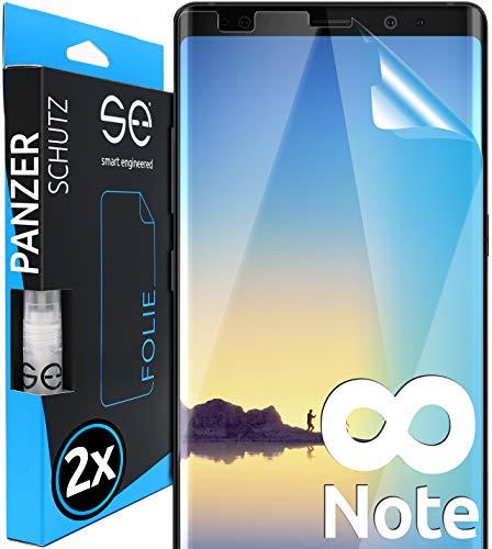 [2 Stück] 3D Schutzfolien kompatibel mit Samsung Galaxy Note 8 - [Made in Germany - TÜV NORD] – HD Displayschutz-Folie - Hüllenfreundlich – Transparent – kein Schutz-Glas - Panzer-Folie TPU