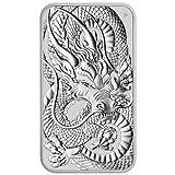 Silbermünze Rectangular Dragon 2021 - Estuche para monedas, 1 onza