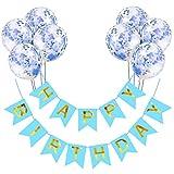 Conjunto de Banners de Feliz Cumpleaños, Decoración de Fiesta de Feliz Cumpleaños con Globo para Niños