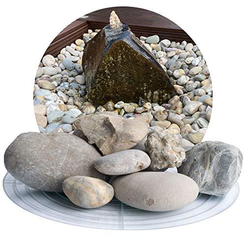 Schicker Mineral Isarkies 25 kg bunter Heller Zierkies, natürlich gerundeter Flusskies in 8-16 mm, 16-32 mm, 32-60 mm (32-60 mm)