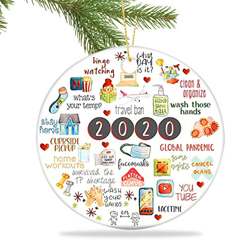 2020 Christmas Ornament Quarantine, 2020 Christmas Greetings Gift, Remember 2020 Christmas Decor, Gift for Friends Family, Christmas Decorations Indoor Outdoor Home